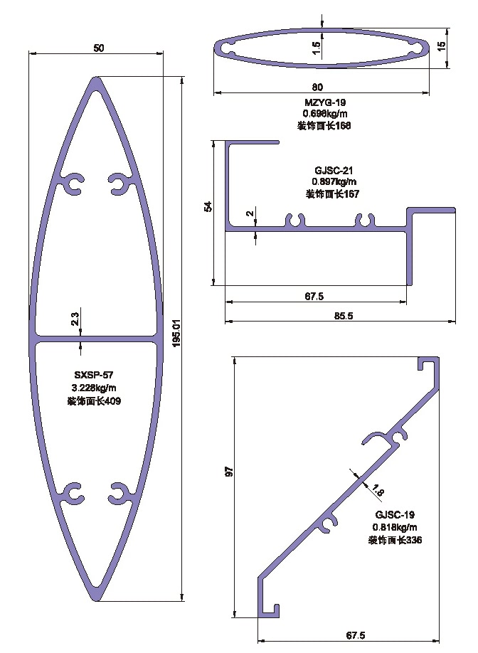 Drawing of Shutter Gusset Plate Profile